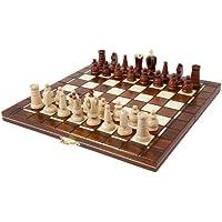 Jeu d'échecs en bois SALOMON - 32 X 32 cm