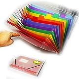 Wss–archiviatore organiser ufficio A413Part Desk Storage Expander documenti in plastica resistente per riempimento casa scuola ufficio documenti