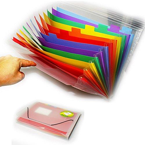 Brief-fach Klar (JJOnlineStore–A4Fächermappe 13Fächer mehrere Taschen Fach Ordner Organizer Kunststoff Elastic Verschluss Dokumententasche Organizer)