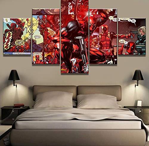 ADDFLOWER 5 Unidades Arte Lona Deadpool Película