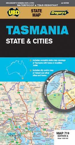 Tasmania State & Cities  1 : 625 000 (State Map) (Map-tasmanien)