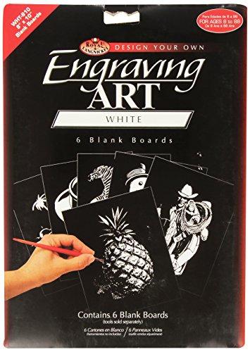 Royal & Langnickel WHT-810 - Engraving Art/Kratzbilder, 8 x 10 Zoll, Blank, 6 Stück, weiß - 8 X 10 Art