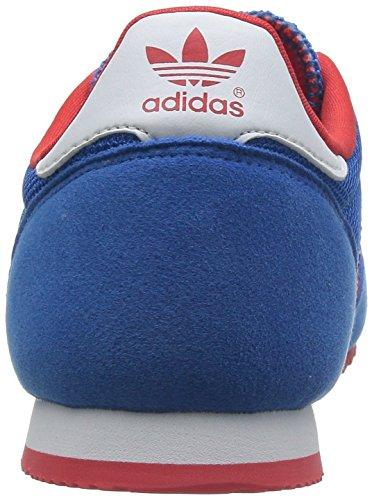 adidas Dragon, Jungen Sneakers Blau (Bluebird / Poppy / Running White Ftw)
