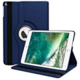 #2: Mcart's 360 Degree Rotating Stand Magnetic Smart Flip (Auto Sleep/Wake Function) Case Cover for New Apple iPad 9.7 inch 2017/2018 (5th and 6th generation) Model A1822 A1823 A1893 A1954 & ipad Air 2013 A1474 A1475 A1476 A1566 A1567 (2018) A1893, A1954 (Midnight Blue)