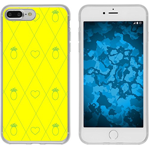 PhoneNatic Case für Apple iPhone 7 Plus Silikon-Hülle Sommer Eis M6 Case iPhone 7 Plus Tasche + 2 Schutzfolien Motiv 1: Ananas