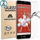 Huawei P10 Lite Panzerglas Schutzfolie, MKOAWA [2 Stück] gehärtetem Glas Displayschutzfolie 0,25 mm Displayschutzfolie