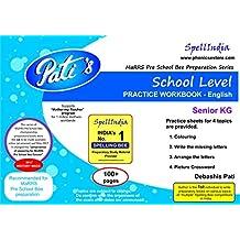PRACTICE WORKBOOK - Senior KG - School Level - English : Prepare for Marrs Pre School Bee competition