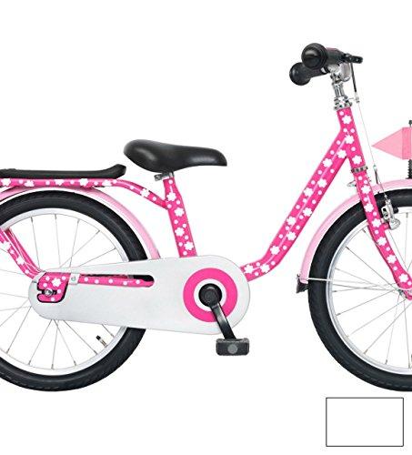 ilka parey wandtattoo-welt Fahrradaufkleber Fahrrad Blüten und Punkte 94 Teile Set M1581 - ausgewählte Farbe: *Weiß* (Markenzeichen Scrapbooking Aufkleber)