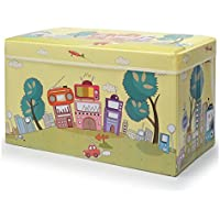 Preisvergleich für Folding Storage Seat Bench- 60L Large Folding Storage Hocker Haushalt Kinderspielzeug Kleidung Aufbewahrungsbox mit Deckel 60cm × 30cm × 35cm Home Decor (Farbe : Robot)