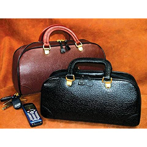Zipper Physician Bag 14 Black Leather by