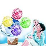 HuntGold New 4Stk Wiederverwendbare Waschmaschine Waschen Wäscherei Ball Stoff weich Physical Reiniger (zufällige Farbe)