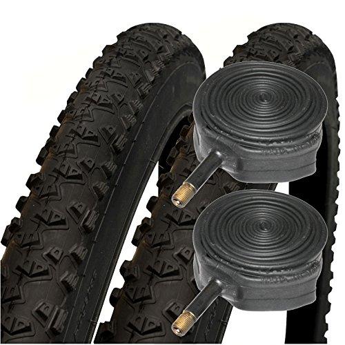 """Schwalbe Impac Ridgepac 26\"""" x 2.25 Mountain Bike Tyres with Schrader Tubes (Pair)"""