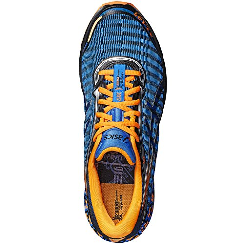 Asics, DYNAFLYTE Paris, Scarpe running uomo, ElectricBlue/HotOrange/Black ElectricBlue/HotOrange/Black
