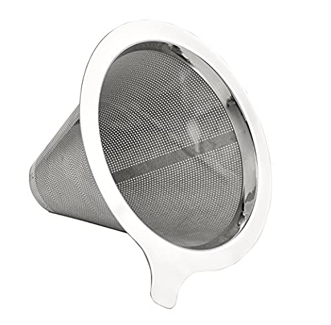 Filtre café gourmet Buonostar en acier inoxydable.   Les filtres permanents sans papier comme les filtres à main pour le café.   Les filtres à café permanents et élément filtrant parfait pour les cafetières, mais aussi pour les tasses.