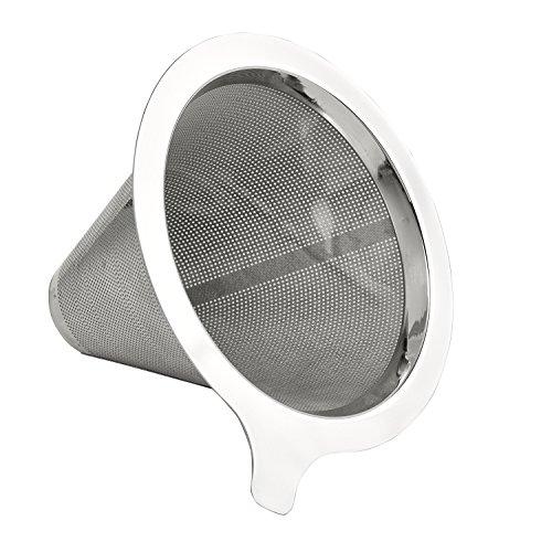 Buonostar Kaffeefilter / Kaffeesieb aus Edelstahl | Permanentfilter ohne Papier als Handfilter für...