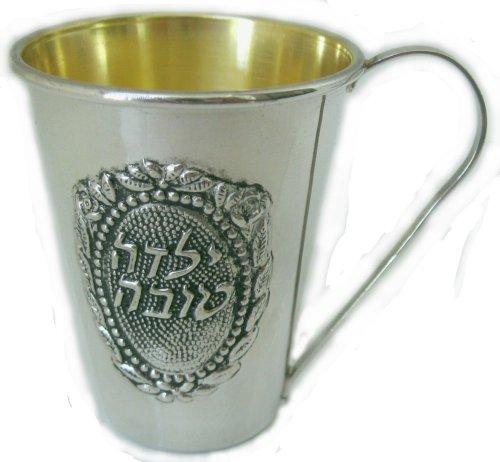 Kiddush Cup Argento Massiccio, in argento Sterling 925, con timbro di 925, per bambina