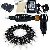 GAG-Tattoo maschine @ Zu den Produkten gehören Tätowiermaschine + 50 Nadeln + Tattoo Power + Fußpedal Liner und Shader, black