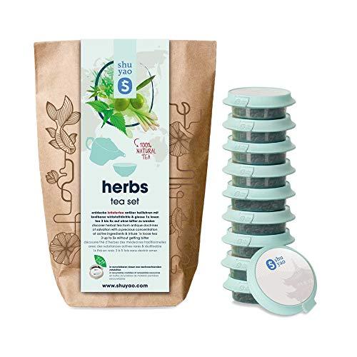 Shuyao Herbs Tea Set  10x Kräutertee direkt aus dem Kräutergarten (30g) (Tee Lose-blatt Tulsi)