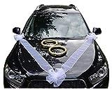 Autoschmuck Autodeko Hochzeit Dekor Verschiedene Variante Komplett (Ringe)