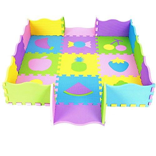 Puzzlematte von Sapphire, Spielmatte mit Rand, 44-tlg