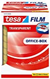 tesafilm Klebeband, transparent, Office-Box mit 10 Rollen, 66m x 15mm