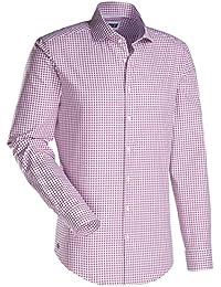 JACQUES BRITT Herren Hemd Slim fit Blue Label 1/1-Arm Bügelleicht Karo City-Hemd Hai-Kragen Manschette weitenverstellbar