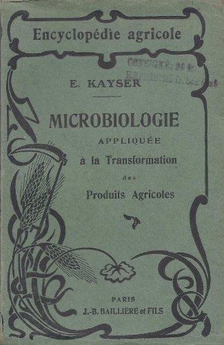 Microbiologie Appliquée à la Transformation des Produits Agricoles - Encyclopédie Agricole