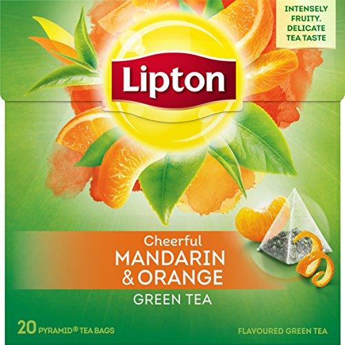 5 x Lipton Cheerful Mandarin & Orange Green Tea Tee (5 x 20 Teebeutel) - Lipton Tee-orange