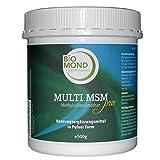 MSM Methylsulphonylmethan PRO 99,9% reines Granulat Pulver von BIOMOND, 500 g / organischer Schwefel / Premiumqualität / mit Vitamin C (Acerola)