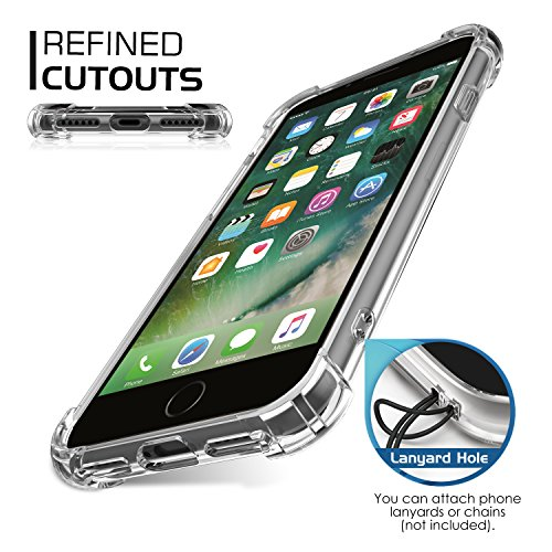 MoKo Hülle für iPhone 8 / 7 - [Kristall Durchsichtig Serie] Ultra Slim TPU Silikon Handyhülle Crystal Clear Phone Bumper Case Schutzhülle Schale für Apple iPhone 8 / 7 4.7 Zoll, Helle Rosa Lokomotive
