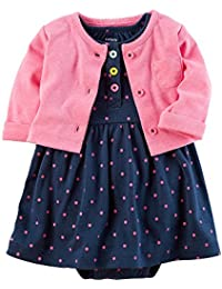 Carters Baby Girls 2-Piece Dress Set Newborn