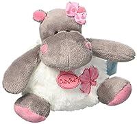 """Ce pantin doudou hippopotame de la collection """" Zoé """" de Baby Nat' est très doux, de plus grâce à sa petite taille 11 cm, il suivra votre enfant partout."""