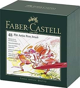 Faber-Castell 167148 - Tuschestift PITT artist pen -brush-, 48er Atelierbox