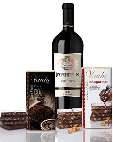 Geschenkset Wein und Schokolade Das perfekte Geschenk für Weihnachten (1 x 0.75 l; 1 x 110g; 1 x 100g)