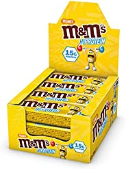 M&M's Hi Protein Peanut Bar (12 x 51g) - High Protein Snack with M&M's, Peanuts, Caramel and M