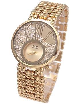 XLORDX Luxus Damen Uhr Gold Kris