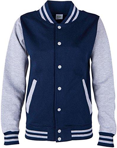 EZYshirt® Unisex Damen Herren & Kinder College Jacke (Varsity Jacken Für Kinder)