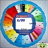 LOT 500 rectangles 1/32 couleurs pour Origami 3D