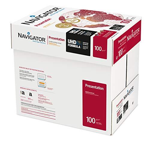 Igepa Navigator Presentation Kopierpapier A4 100g weiß sehr hohe Weiße, 5x500 Blatt (2500 Blatt)