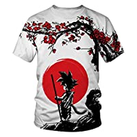 CHENMA Men Dragon Ball 3D Print Short Sleeve Pullover Regular Fit T-shirt (S, Color 14)
