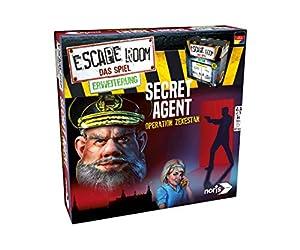 Simba Dickie Noris Spiele 606101776Escape Room Ampliación Secret Agent, Solo con Chrono incorporados Parte Bar Juego de Estrategia