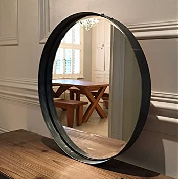 greystoke large bronze round wall mirror 33 diameter kitchen home. Black Bedroom Furniture Sets. Home Design Ideas