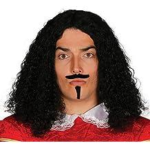 Guirca - Peluca época con bigote y perilla en caja, ...