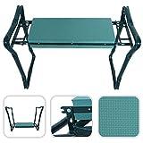 Todeco - Banc Agenouilloir de Jardin, Siège de Jardin Pliable - Taille déployée: 62 x 48 x 28 cm - Charge maximale: 110 kg - Vert