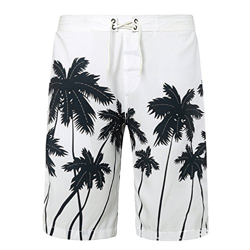 niseng-mens-swim-trunks-beach-shorts-coconut-tree-printing-surf-board-shorts-white-2xl