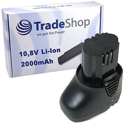 Preisvergleich Produktbild Trade-Shop Premium Li-Ion Qualitäts Akku 10,8V / 2000mAh ersetzt Dremel 757-01, 855-02, 855-45, 2.615.085.5JD, 26150855JD für Dremel 8000-01, 8001-01