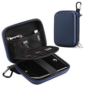 AGPTEK Eva Festplattentasche 2,5 Zoll, Stoßsichere Externe Festplatte Tasche für HDD, SSD Power Bank, Speicherkarte und anderes Zubehör