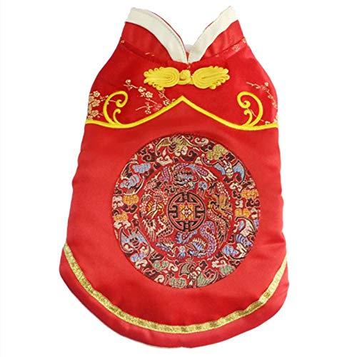 miaoxuewei Haustier Kleidung im chinesischen Stil Hund Tang Anzug Baumwollmantel