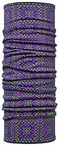 Buff Wool Buff Multifunctional Headwear Azealia Purple Green Patterned 23 cm