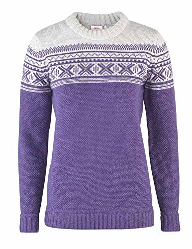 Fjällräven Övik Scandinavian Sweater Women - Strickpullover mit Wolle Dark Garnet (356)